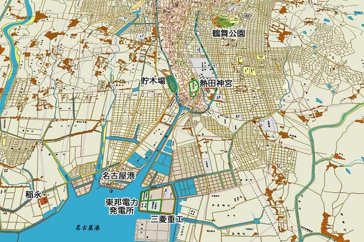昭和時代初期の地図<br>[1/24]