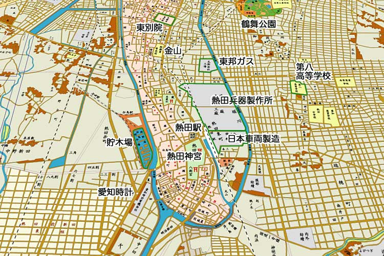昭和時代初期の熱田周辺<br>[2/24]