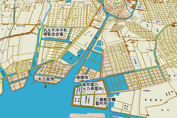 昭和初期の名古屋港周辺<br>[10/24]