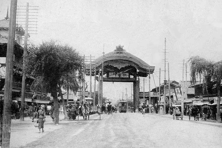 日露戦争戦勝記念広小路凱旋門<br>明治38(1905)[9/23]