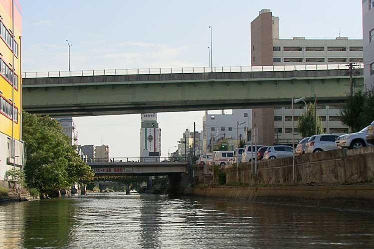 新洲崎橋と<br>名古屋高速2号東山線[6/19]