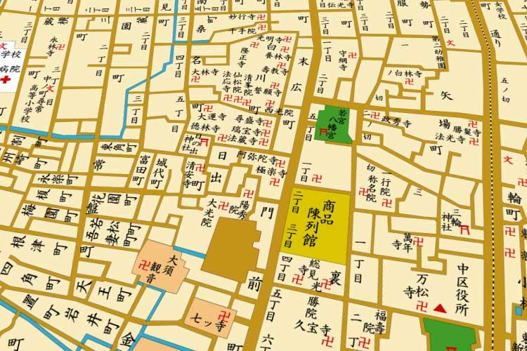 明治末の地図<br>大須界隈[17/21]