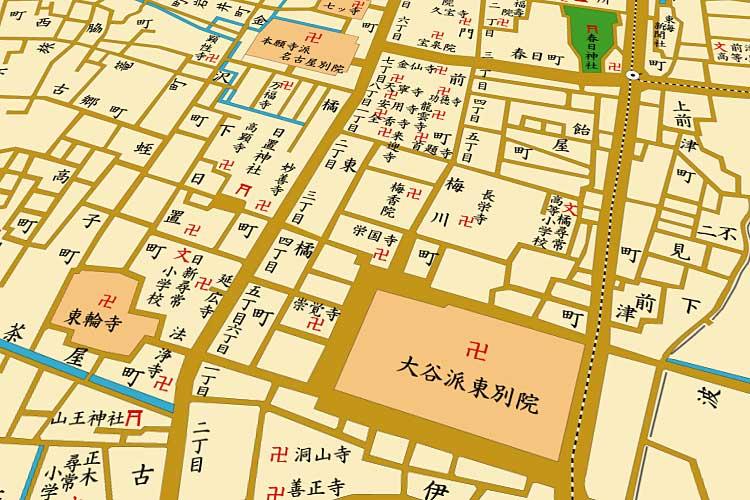 明治末の地図<br>橘町界隈[19/21]