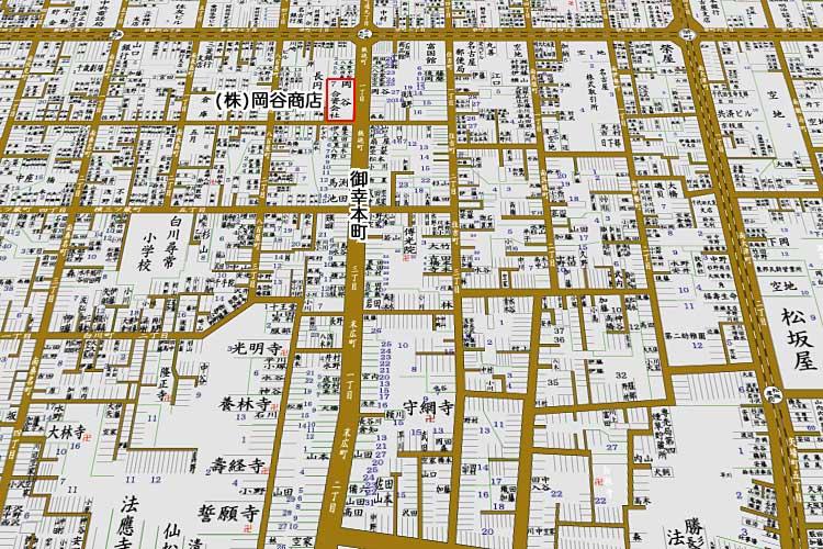 昭和8年(1933)に制作された<br>住宅地図[5/24]