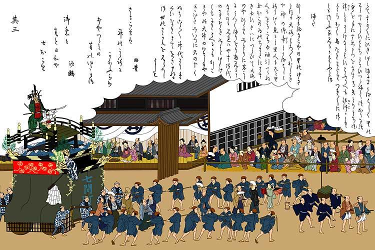 下七間町 橋弁慶車<br>(尾張名所図会)[13/23]