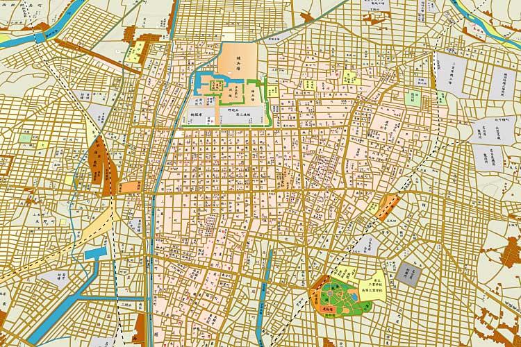 昭和8年(1933)頃の<br>名古屋地図[1/20]