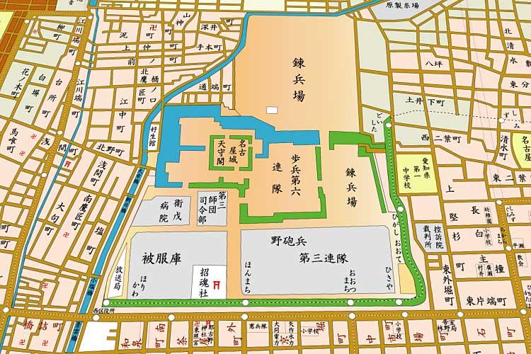 昭和8年(1933)頃の<br>名古屋城周辺[2/20]