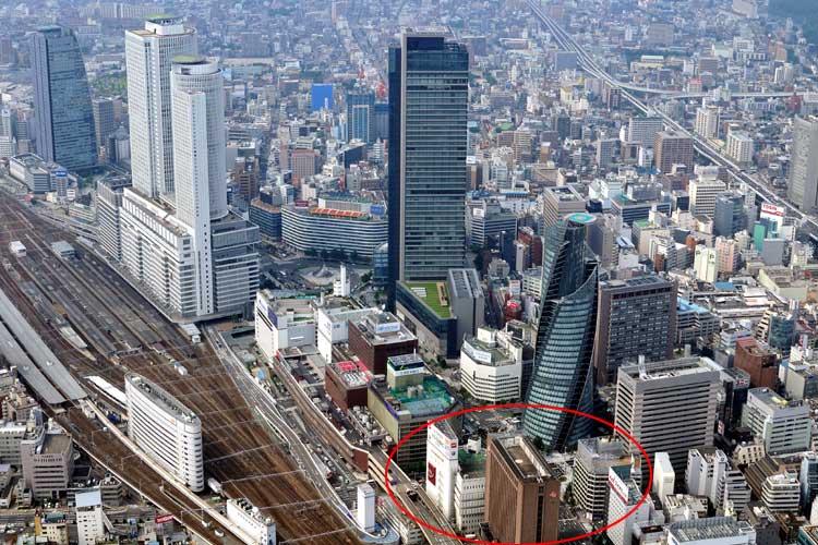 現在の笹島と<br>名古屋駅(2012年)[1/19]