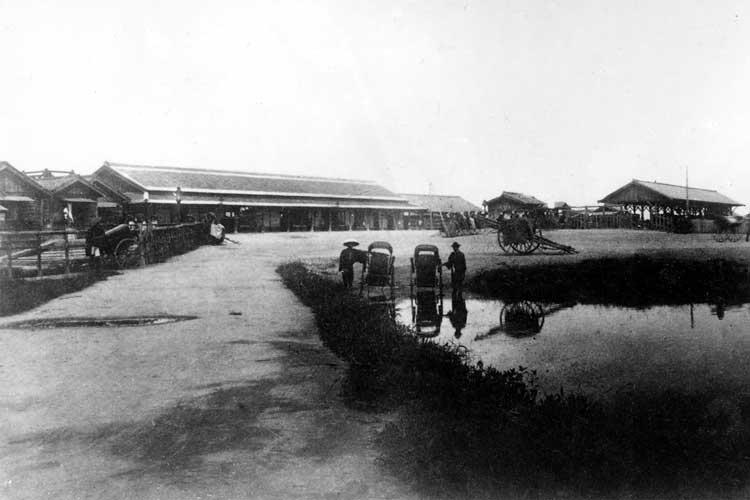明治19年(1887)開設当時の<br>名古屋駅[4/19]