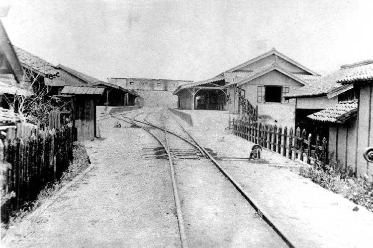 明治19年(1887)開設当時の名古屋駅ホーム[5/19]