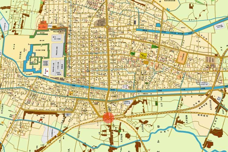 明治時代末期の<br>名古屋駅と市街地図[6/19]