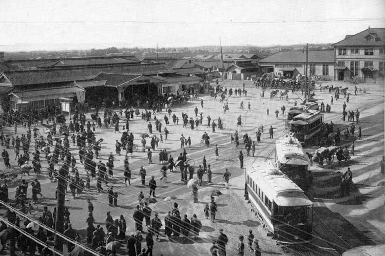 大正時代(1912-1926)中頃の名古屋駅前[8/19]