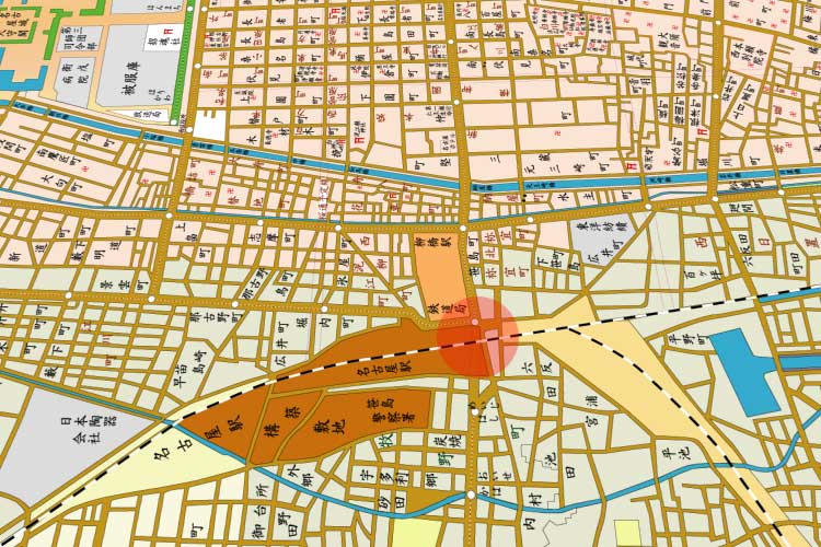 昭和時代(1926-1989)初頭の<br>名古屋駅周辺地図[13/19]