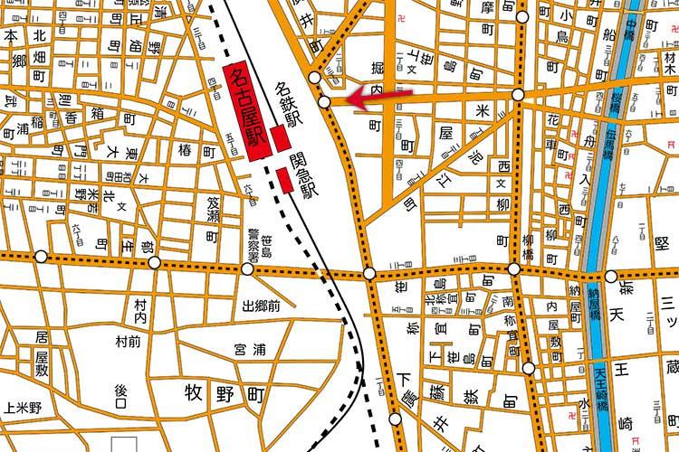 昭和16年(1941)頃の<br>名古屋駅周辺地図[7/22]