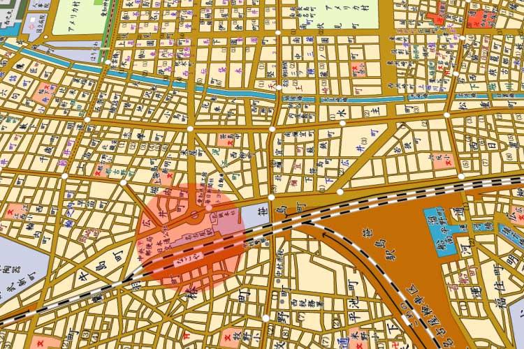 昭和33年(1958)の<br>名古屋駅周辺地図[17/22]