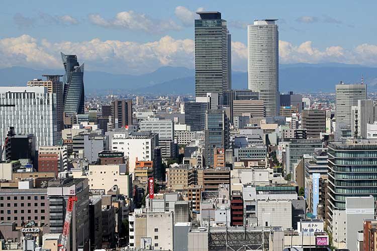 テレビ塔から見た名古屋駅方面(2013年撮影)[1/24]