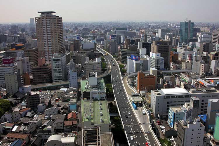 名古屋高速都心環状線新洲崎JCT付近(2013年撮影)[7/24]