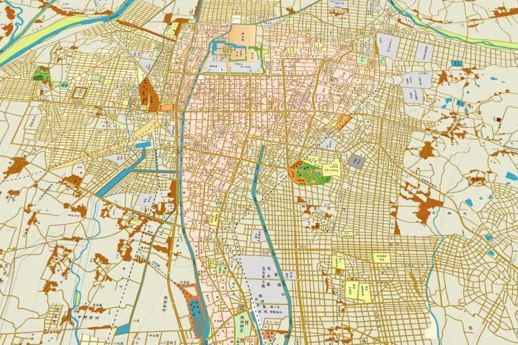 昭和8年(1933)頃の<br />名古屋市街図[6/24]