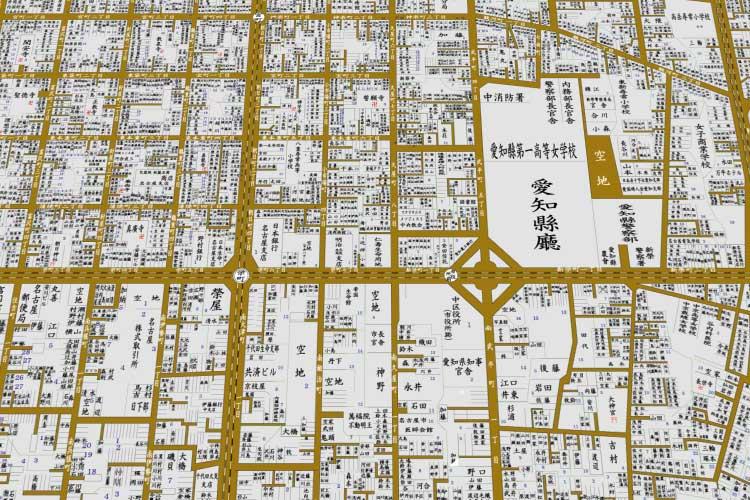 昭和8年(1933)頃の<br />栄町周辺住宅地図[7/24]